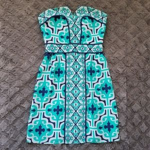 Annie Griffin silk turquoise dress sz 0